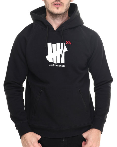 Undftd - Men Black Technical Pullover Hoodie