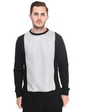 Sweatshirts & Sweaters - l/s honeycombed crew fleece
