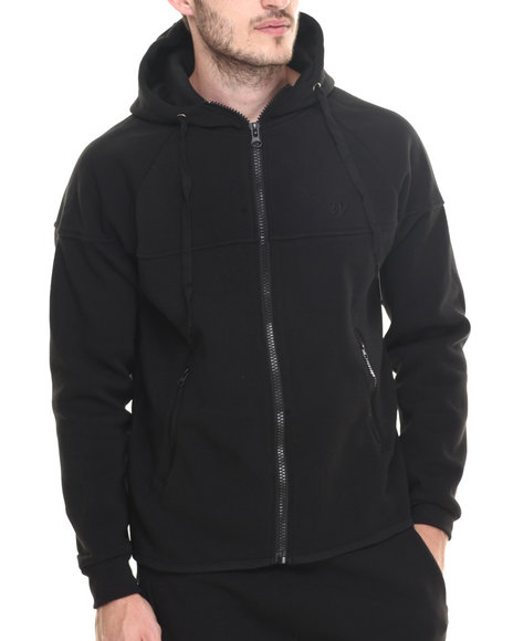 Winchester - Men Black Mccain Trimed Full Zip Hoody