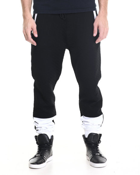 Waimea - Men Black Diamond Quilt Pieced Jogger