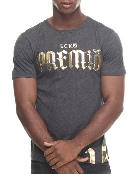 Premio By Ecko - Men Charcoal Word Is Born T-Shirt
