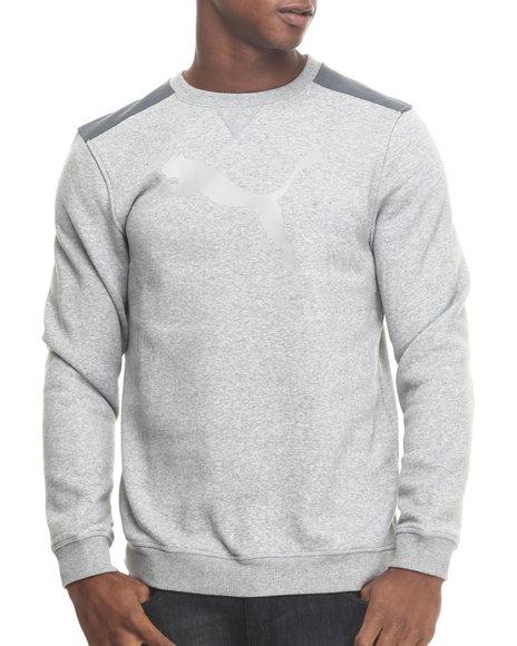 Puma - Men Grey Signature Logo Crewneck Sweatshirt