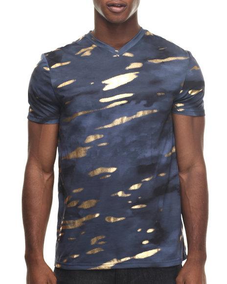 Premio By Ecko - Men Blue,Navy Recon Foiled T-Shirt