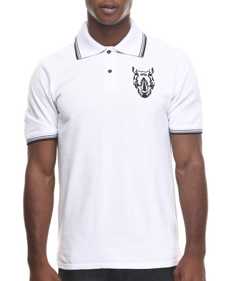 Premio By Ecko - Men White Topper Polo