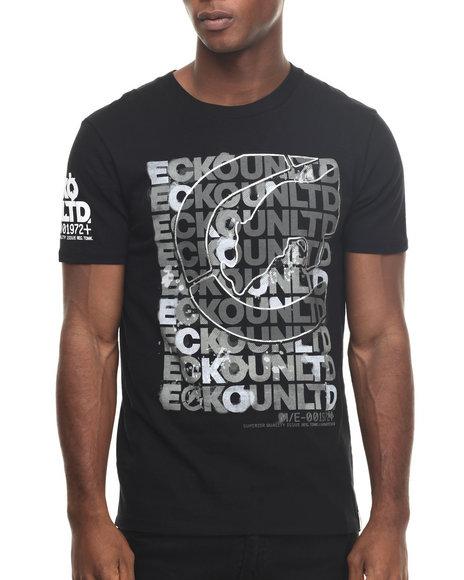Ecko - Men Black Scrambled Scrabble T-Shirt