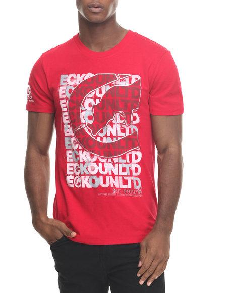 Ecko - Men Red Scrambled Scrabble T-Shirt - $16.99