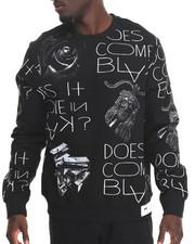 Men - Does It Come in Blak? Crew Fleece Sweatshirt