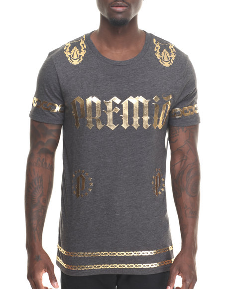 Premio By Ecko - Men Charcoal Old New Core T-Shirt