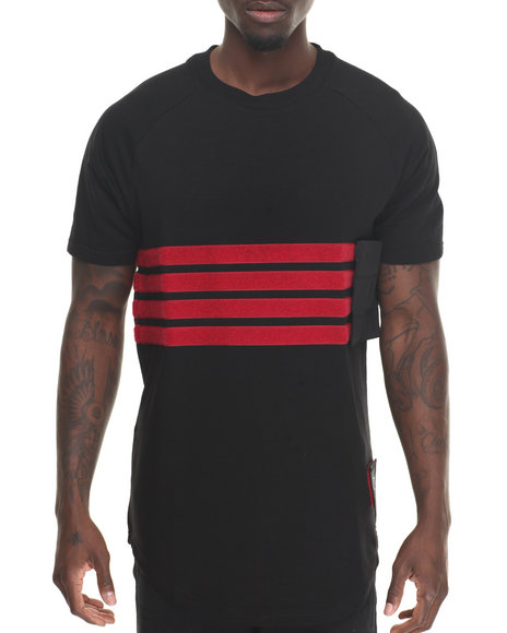 Bass By Ron Bass - Men Black Velcro Strap S/S Tee