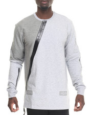 Shirts - Zipper Paneled L/S T-Shirt