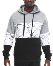 Hoodies - Crackle Color Block Hoodie