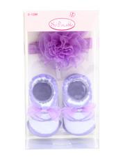 Girls - Ballet Organza Rose Headband/Bootie Gift Set (0-12m)