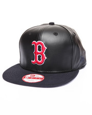 New Era - Boston Red Sox Smoothly Stated Faux leather 950 snapback hat