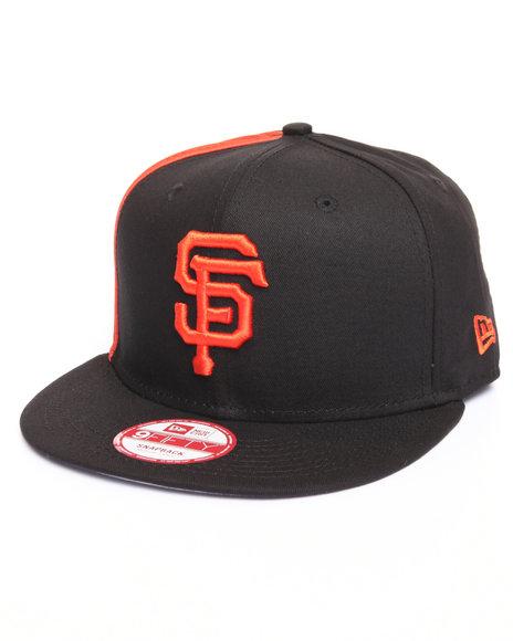 New Era Men San Francisco Giants Panel Pride 950 Snapback Hat Black