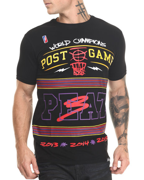 Post Game - Men Black 3 - Peat Champ S/S Tee - $45.99