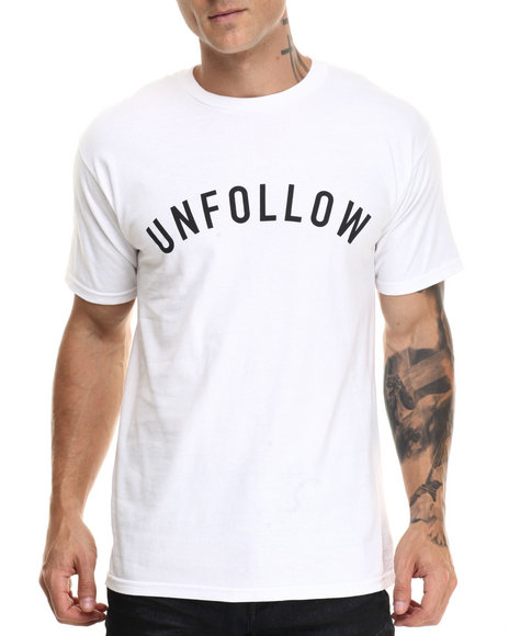 Us Versus Them - Men White Unfollow Tee