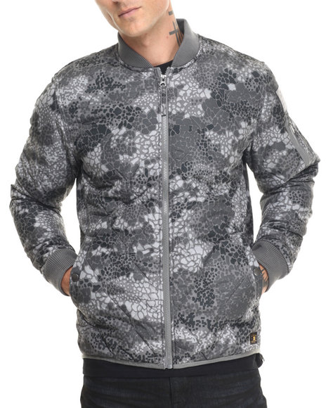 Dc Shoes Men Dc X Dpm Collab. Bombing Quilted Jacket Animal Print Medium