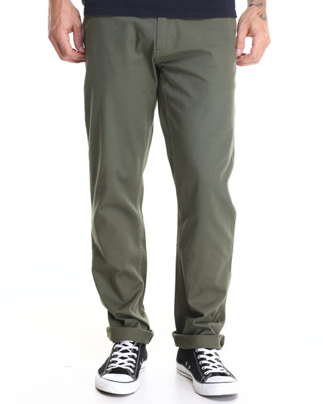 Dc Shoes - Men Green Worker Straight Chino