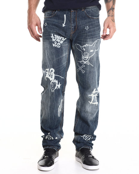 Ecko - Men Dark Wash Vintage Straight Fit Jeans