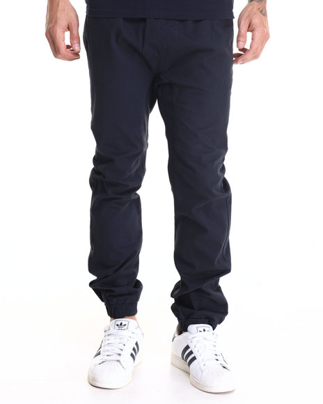 Buyers Picks - Men Navy Drop Crotch Stretch Twill Jogger