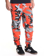 Pants - Orange Camo Jogger