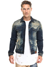 Men - Capricornus Bleached Denim Jacket