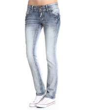 Bottoms - Straight Leg Heavy Stitch Jean