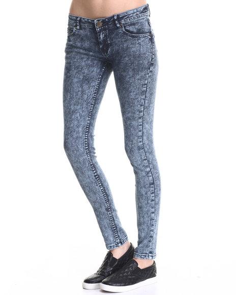 Basic Essentials - Women Acid Wash Curvy Fit Butt Lift Skinny Jean