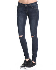 Bottoms - Darted 5 PKT Skinny Jean w/ Embroidered Back PKT