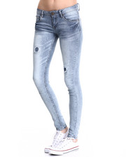 Basic Essentials - Darted 5 PKT Skinny Jean w/ Embroidered Back PKT