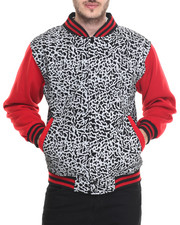 Basic Essentials - Elephant - Print Varsity Fleece Jacket