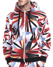 Hoodies - Gradation - Print Zip - Up Hoodie