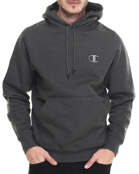 Champion - Men Charcoal Champion Super Fleece 2.0 Pullover Hoodie - $70.00