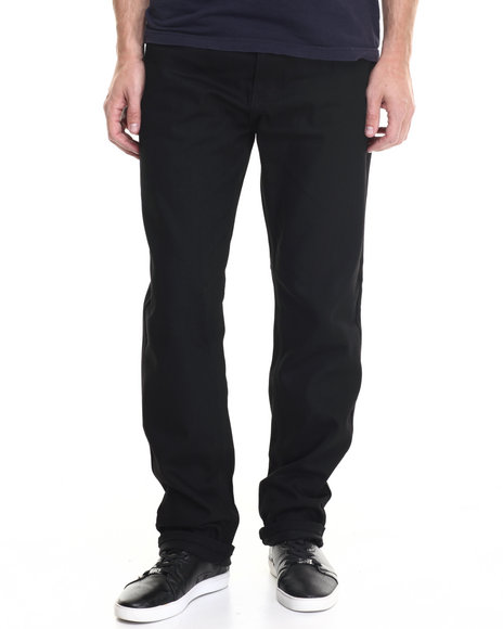 Basic Essentials - Men Black 5 - Pocket Raw Denim Jeans
