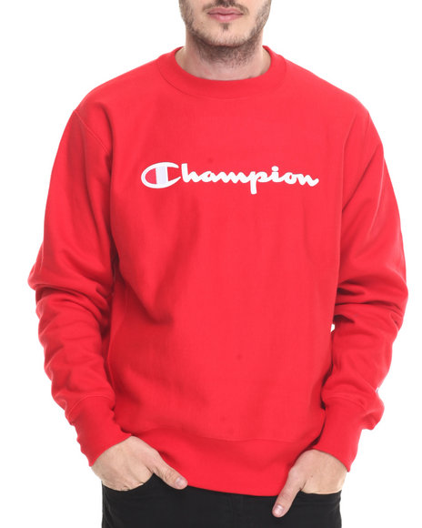 Champion Red Pullover Sweatshirts
