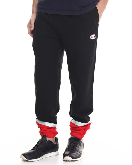 Champion - Men Black Champion Super Fleece 3.0 Pants - $75.00