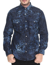 Shirts - Paisley Denim L/S Button - Down