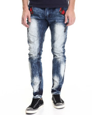 Men - Smoke Washed Buffalo Check - Pocket Denim Jeans