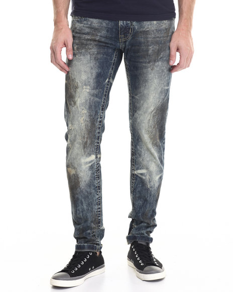 Buyers Picks - Men Dark Wash Dirty Work Slim - Straight Denim Jeans