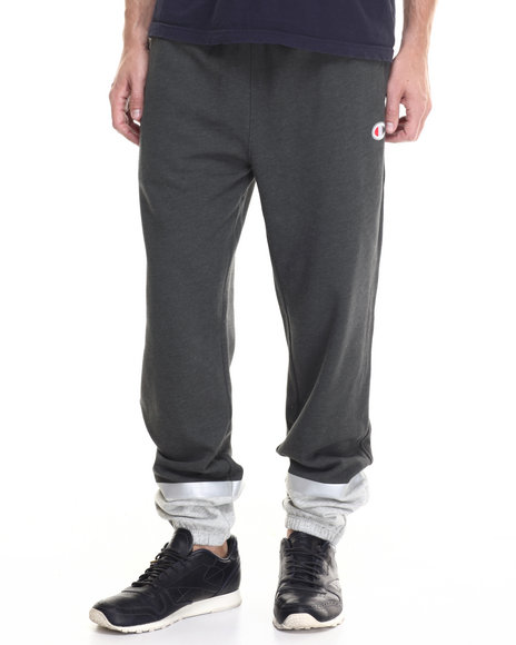 Champion - Men Charcoal,Grey Champion Super Fleece 3.0 Pants