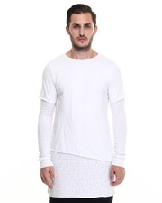 -FEATURES- - Dawson Unhemmed Layered Tee