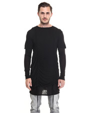 Shirts - Dryden Drawstring Layered Tee