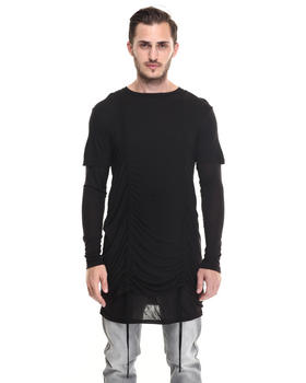 T-Shirts - Dryden Drawstring Layered Tee