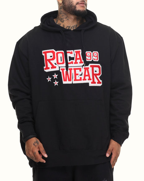 Rocawear Men Action Pullover Hoodie (B&T) Black 3XLB