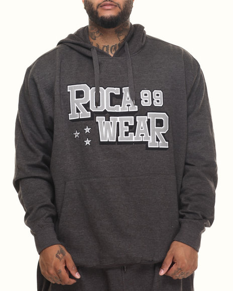 Rocawear Men Action Pullover Hoodie (B&T) Charcoal 3XLB