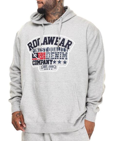 Rocawear Men Bricks Hoodie (B&T) Grey 3XLB