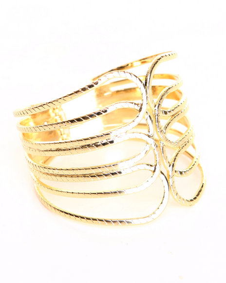 Drj Accessories Shoppe Women Gold Rope Cuff Bracelet Gold