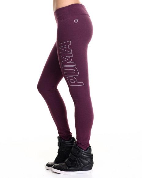 Puma - Women Purple Reflective Leggings
