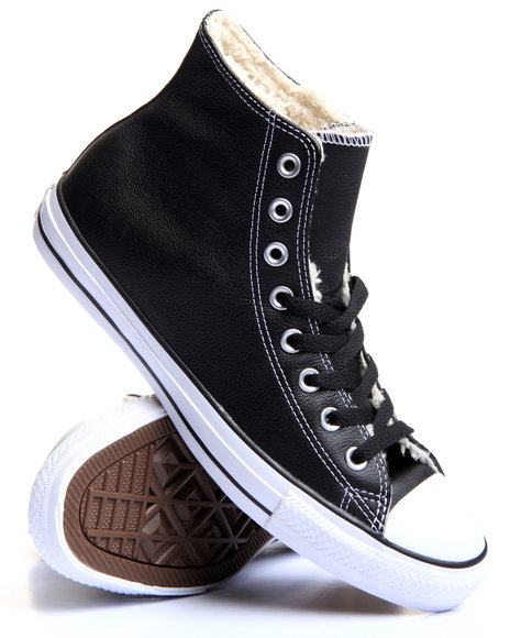 Converse Men Chuck Taylor All Star Leather  Shearling Black 9