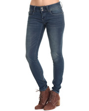 Skinny - Chloe Curvy Mid Rise Double Button Skinny Jean